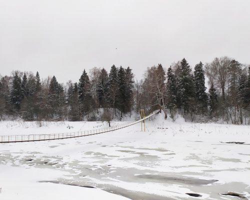 Подвесной мост Москвы реки